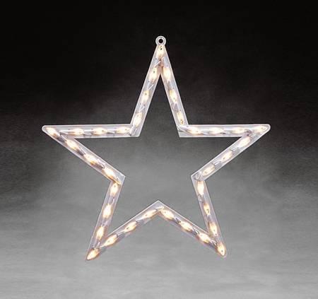 Vindussiluett stjerne