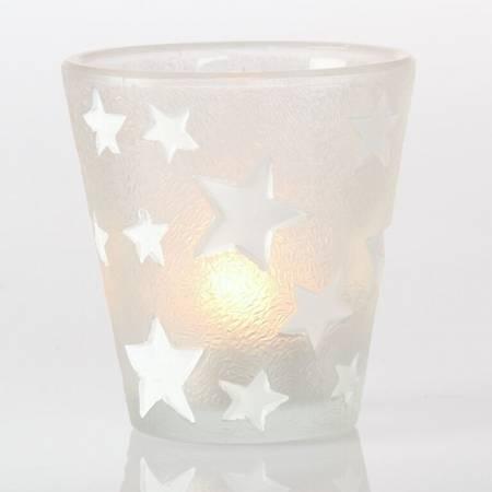 Lysglass med stjerner