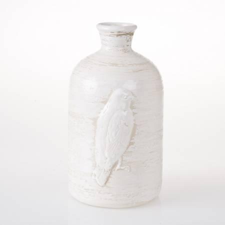 Vase hvit keramikk L