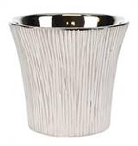 Potte sølv striper L